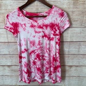 Justice girls size 14 tie dyed pink top